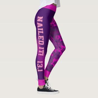 Cool Purple Star Design Nailed It Leggings