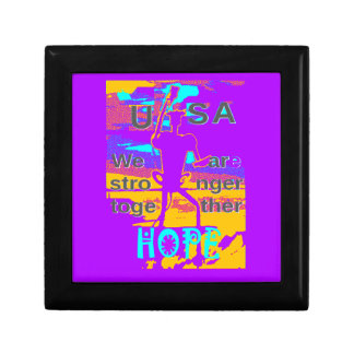 Cool Purple USA Hillary Hope We Are Stronger Toget Small Square Gift Box