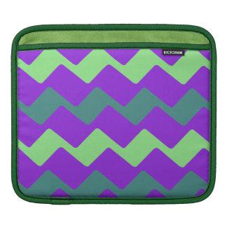 Cool Purple Wave Accent Stripes iPad Sleeve