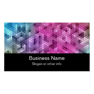 Cool Rainbow Color Mosaic Pack Of Standard Business Cards