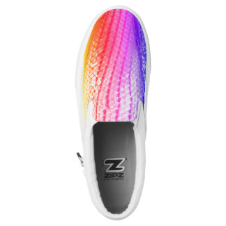 Cool Rainbow Fish Scales Snake Pattern 4Hilsey Slip On Shoes