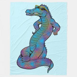 Cool Rainbow Gator Fleece Blanket