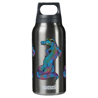 Cool Rainbow Gator Insulated Water Bottle