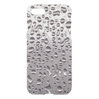 Cool Raindrops on Metal Stainless Steel Pattern iPhone 8/7 Case