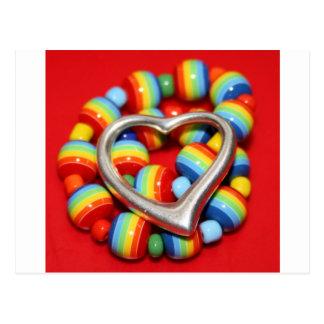 Cool Rasta Beads Design Postcard