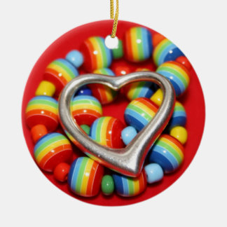 Cool Rasta Beads Design Round Ceramic Decoration