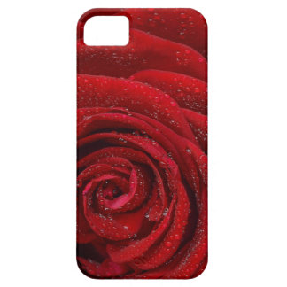 Cool Realistic Raindrops on a Red Rose Phone Case