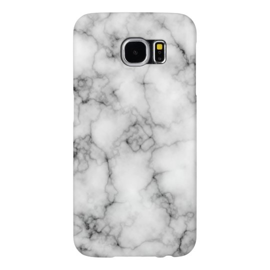 Cool Realistic White Marble Pattern Samsung Galaxy S6