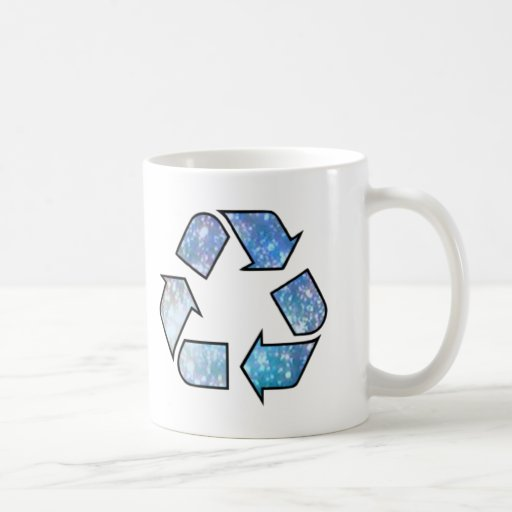 Cool Recycling Symbol Classic White Coffee Mug