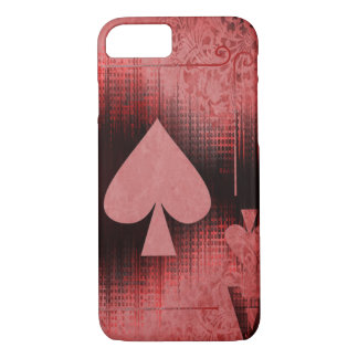 Cool Red and Black Ace of Spades Design Phone Case
