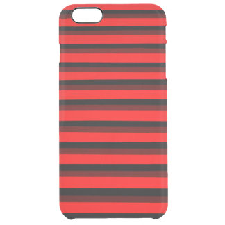 COOL Red and Black Patterns Clear iPhone 6 Plus Case