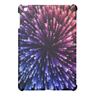 Cool red and blue Explosion Design iPad Mini Case