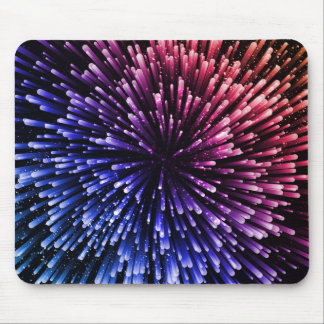 Cool red and blue Explosion Design Mouse Pad