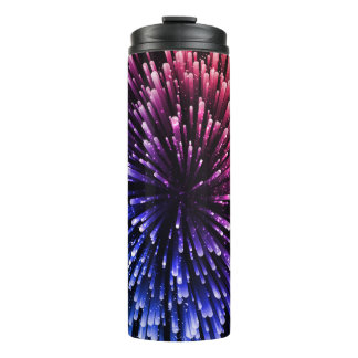Cool red and blue Explosion Design Thermal Tumbler