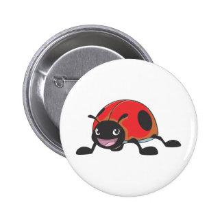 Cool Red Baby Ladybug Cartoon 6 Cm Round Badge