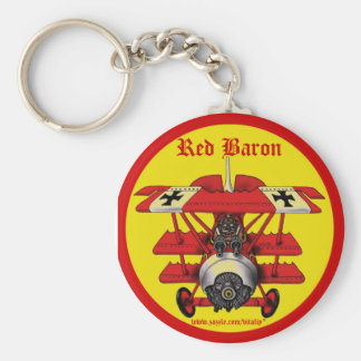 Cool red baron plane keychain design