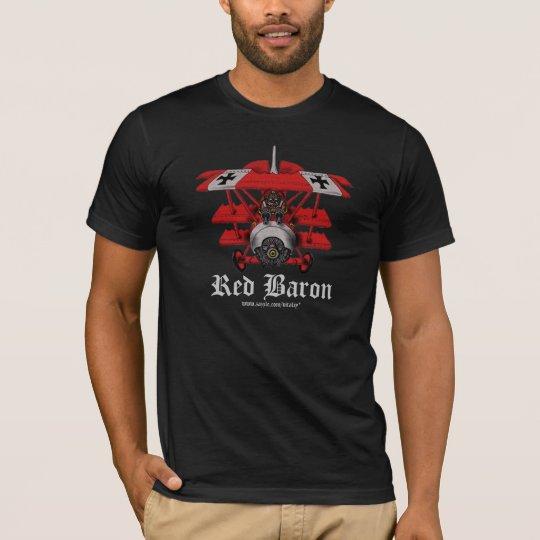 Cool red baron plane t-shirt design