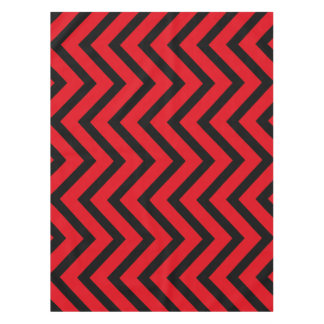 Cool red black Chevron  tablecloth