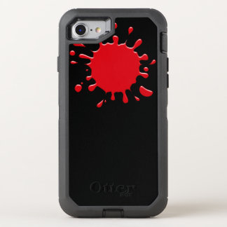 Cool Red Blood Splatter OtterBox Defender iPhone 7 Case