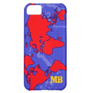 cool red carte du monde iPhone 5C case
