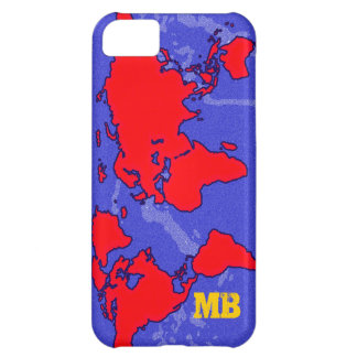 cool red carte du monde iPhone 5C case