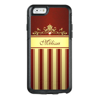 Cool Red Gold Vintage OtterBox iPhone 6/6s Case