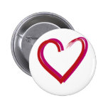 Cool Red Hearts Buttons