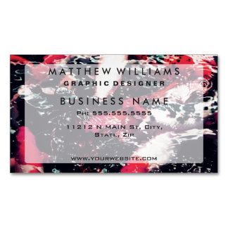 Cool Red Koi Fish in the Water Magnetic Business Cards