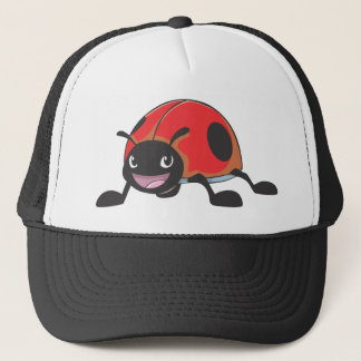 Cool Red Ladybug Cartoon Trucker Hat