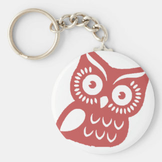 Cool Red Owl Key Ring