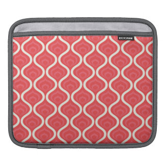 Cool Red Retro Pattern iPad Sleeves