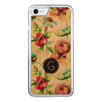 Cool Red Roses Waterloos Illustration Carved iPhone 7 Case
