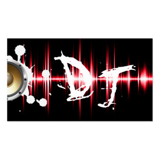 Cool Red Sound Waves Wild DJ Pack Of Standard Business Cards