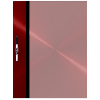Cool Red Stainless Steel Metal Dry Erase Board