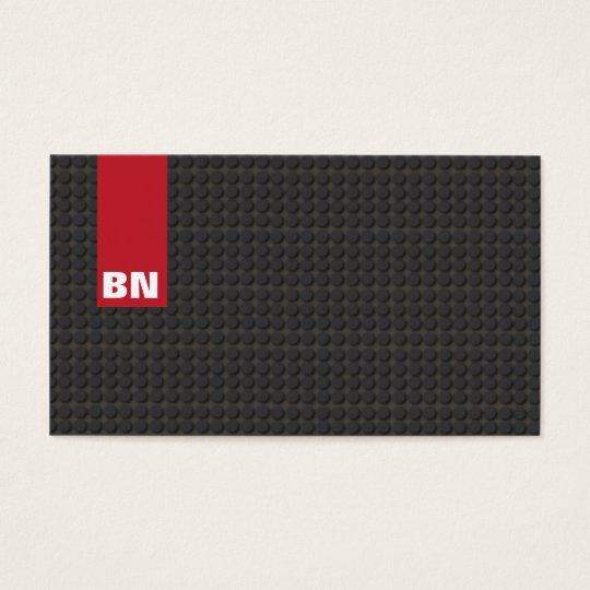 Cool Red Stripe Black Monogram Auto Automotive Business
