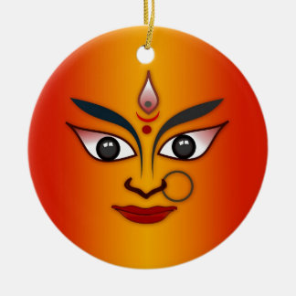Cool religion face Indian mask goddess Christmas Ornament