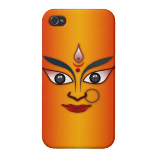 Cool religion face Indian mask goddess Cases For iPhone 4