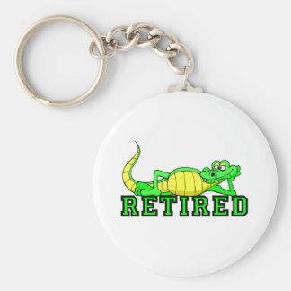 Cool retirement gator basic round button key ring