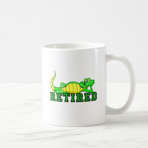 Cool retirement gator basic white mug