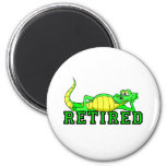 Cool retirement gator refrigerator magnet