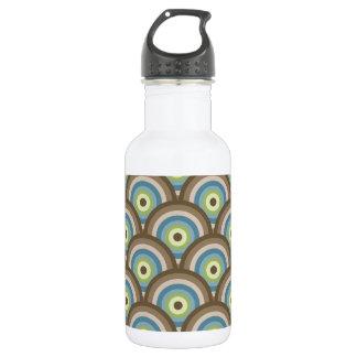 Cool Retro Blue Green Circle Pattern Custom 532 Ml Water Bottle
