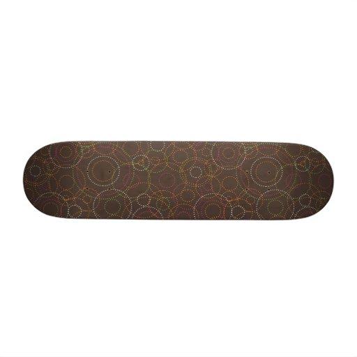 Cool retro circle graphics skateboard