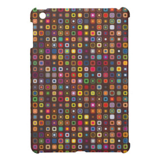 cool retro colourful squares pattern cover for the iPad mini