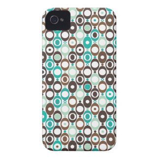 Cool retro disco pattern illustration iPhone 4 cover