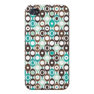 Cool retro disco pattern illustration cover for iPhone 4