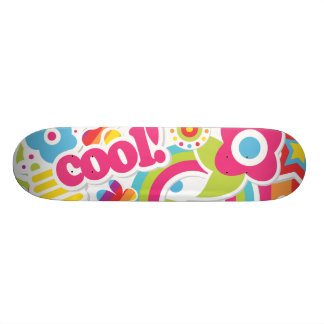 cool retro girly sticker collage 18.1 cm old school skateboard deck