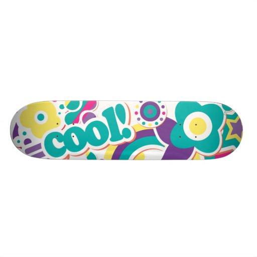 cool retro girly sticker collage 2 skate deck