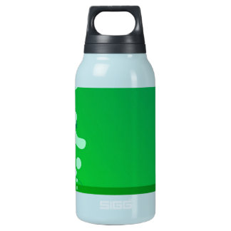cool retro green dance girl background insulated water bottle