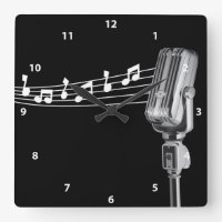 Cool Retro Microphone Clock