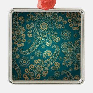 Cool retro pattern christmas ornament